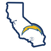 "Los Angeles Chargers Home State 10"" Vinyl Magnet"
