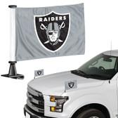 "Oakland Raiders Ambassador 4"" x 6"" Car Flag Set of 2"