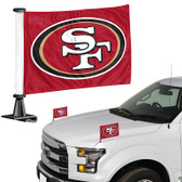 "San Francisco 49er's Ambassador 4"" x 6"" Car Flag Set of 2"