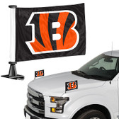 "Cincinnati Bengals Ambassador 4"" x 6"" Car Flag Set of 2"