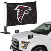 "Atlanta Falcons Ambassador 4"" x 6"" Car Flag Set of 2"
