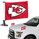 """Kansas City Chiefs Ambassador 4"""" x 6"""" Car Flag Set of 2"""