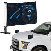"""Carolina Panthers Ambassador 4"""" x 6"""" Car Flag Set of 2"""