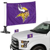 "Minnesota Vikings Ambassador 4"" x 6"" Car Flag Set of 2"