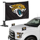"Jacksonville Jaguars Ambassador 4"" x 6"" Car Flag Set of 2"