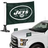 "New York Jets Ambassador 4"" x 6"" Car Flag Set of 2"
