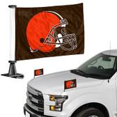 """Cleveland Browns Ambassador 4"""" x 6"""" Car Flag Set of 2"""