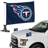 "Tennessee Titans Ambassador 4"" x 6"" Car Flag Set of 2"