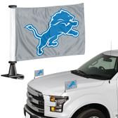 "Detroit Lions Ambassador 4"" x 6"" Car Flag Set of 2"