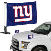 "New York Giants Ambassador 4"" x 6"" Car Flag Set of 2"