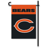 "Chicago Bears Home / Yard Flag 13"" x 18"" 2-Sided"