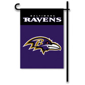 "Baltimore Ravens Home / Yard Flag 13"" x 18"" 2-Sided"