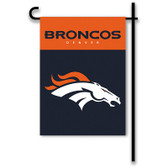"Denver Broncos Home / Yard Flag 13"" x 18"" 2-Sided"