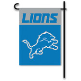 "Detroit Lions Home / Yard Flag 13"" x 18"" 2-Sided"