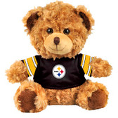 "Pittsburgh Steelers 10"" Plush Teddy Bear w/ Jersey"