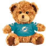 """Miami Dolphins 10"""" Plush Teddy Bear w/ Jersey"""
