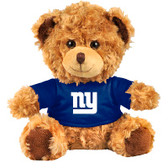 "New York Giants 10"" Plush Teddy Bear w/ Jersey"