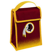 Washington Redskins Insulated Lunch Bag w/ Velcro Closure