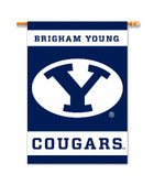 "BYU Cougars 2-Sided 28"" X 40"" Banner W/ Pole Sleeve"