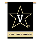 "Vanderbilt Commodores 2-Sided 28"" X 40"" Banner W/ Pole Sleeve"