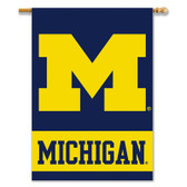 "Michigan Wolverines 2-Sided 28"" X 40"" Banner W/ Pole Sleeve"