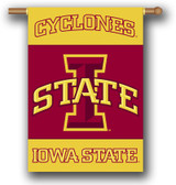 "Iowa State Cyclones 2-Sided 28"" X 40"" Banner W/ Pole Sleeve"