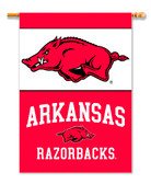 "Arkansas Razorbacks 2-Sided 28"" X 40"" Banner W/ Pole Sleeve"