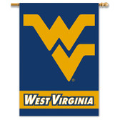 "West Virginia Mountaineers 2-Sided 28"" X 40"" Banner W/ Pole Sleeve"