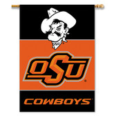"Oklahoma State Cowboys 2-Sided 28"" X 40"" Banner W/ Pole Sleeve"
