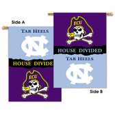 "East Carolina - North Carolina 2-Sided 28"" X 40"" Banner W/ Pole Sleeve House Divided"