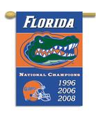 "Florida Gators 2-Sided 28"" X 40"" Banner W/ Pole Sleeve Champ Years"