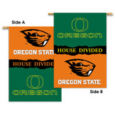 "Oregon - Oregon State 2-Sided 28"" X 40"" Banner W/ Pole Sleeve House Divided"