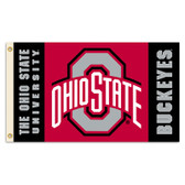 Ohio State Buckeyes 2-Sided 3 Ft. X 5 Ft. Flag W/Grommets