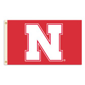 Nebraska Cornhuskers 2-Sided 3 Ft. X 5 Ft. Flag W/Grommets