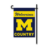 Michigan Wolverines 2-Sided Country Garden Flag