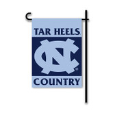 North Carolina Tar Heels 2-Sided Country Garden Flag