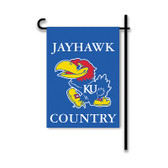 Kansas Jayhawks 2-Sided Country Garden Flag
