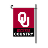 Oklahoma Sooners 2-Sided Country Garden Flag