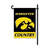 Iowa Hawkeyes   2-Sided Country Garden Flag