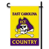 East Carolina Pirates 2-Sided Country Garden Flag