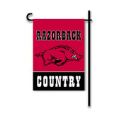 Arkansas Razorbacks 2-Sided Country Garden Flag