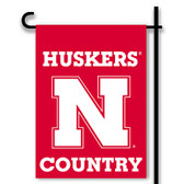Nebraska Cornhuskers 2-Sided Country Garden Flag