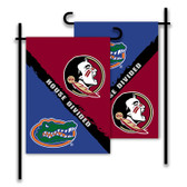 Florida - Florida St. 2-Sided Garden Flag - Rivalry House Divided