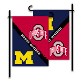Michigan - Ohio St. 2-Sided Garden Flag - Rivalry House Divided