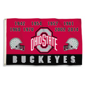 Ohio State Buckeyes 3 Ft. X 5 Ft. Flag W/Grommets - Champ Years
