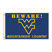 West Virginia Mountaineers 3 Ft. X 5 Ft. Flag W/Grommets - Country