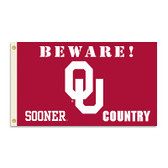 Oklahoma Sooners 3 Ft. X 5 Ft. Flag W/Grommets - Country