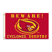 Iowa State Cyclones 3 Ft. X 5 Ft. Flag W/Grommets - Country