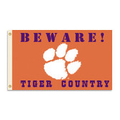 Clemson Tigers 3 Ft. X 5 Ft. Flag W/Grommets - Country