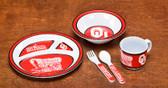 Oklahoma Sooners Kid's 5 Pc. Dish Set
